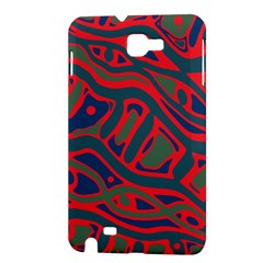 Red and green abstract art Samsung Galaxy Note 1 Hardshell Case