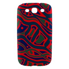 Red and green abstract art Samsung Galaxy S III Hardshell Case