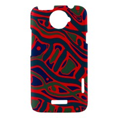 Red and green abstract art HTC One X Hardshell Case