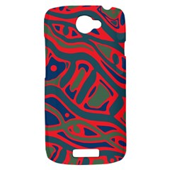 Red and green abstract art HTC One S Hardshell Case