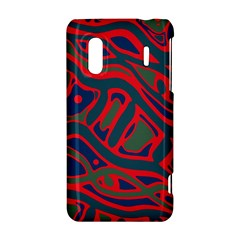 Red and green abstract art HTC Evo Design 4G/ Hero S Hardshell Case