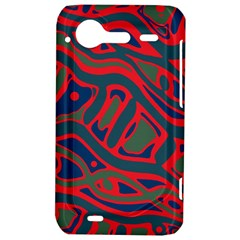 Red and green abstract art HTC Incredible S Hardshell Case