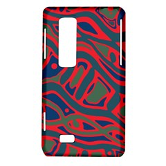Red and green abstract art LG Optimus Thrill 4G P925