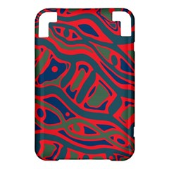 Red and green abstract art Kindle 3 Keyboard 3G