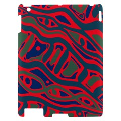 Red and green abstract art Apple iPad 2 Hardshell Case