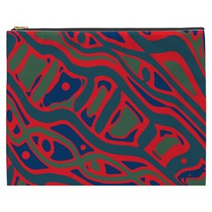 Red and green abstract art Cosmetic Bag (XXXL)