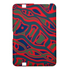 Red and green abstract art Kindle Fire HD 8.9