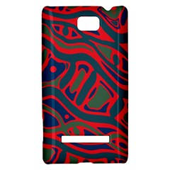Red and green abstract art HTC 8S Hardshell Case
