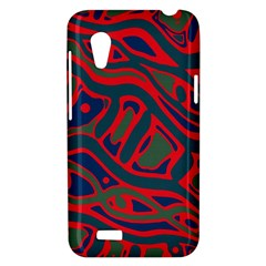 Red and green abstract art HTC Desire VT (T328T) Hardshell Case