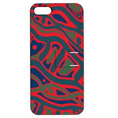 Red and green abstract art Apple iPhone 5 Hardshell Case with Stand