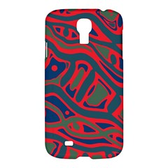 Red and green abstract art Samsung Galaxy S4 I9500/I9505 Hardshell Case