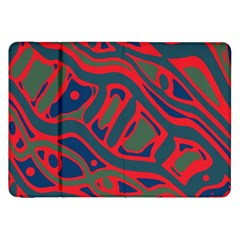 Red and green abstract art Samsung Galaxy Tab 8.9  P7300 Flip Case