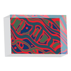 Red and green abstract art 4 x 6  Acrylic Photo Blocks
