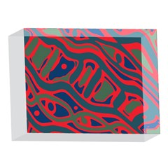 Red and green abstract art 5 x 7  Acrylic Photo Blocks