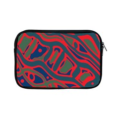 Red and green abstract art Apple iPad Mini Zipper Cases