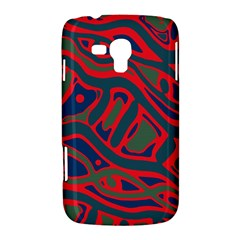 Red and green abstract art Samsung Galaxy Duos I8262 Hardshell Case