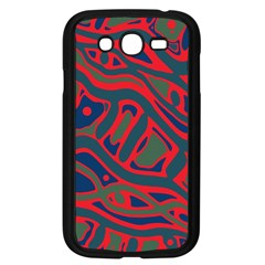 Red and green abstract art Samsung Galaxy Grand DUOS I9082 Case (Black)