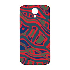 Red and green abstract art Samsung Galaxy S4 I9500/I9505  Hardshell Back Case