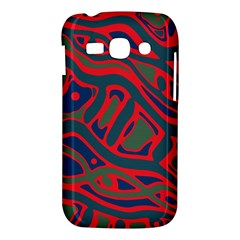 Red and green abstract art Samsung Galaxy Ace 3 S7272 Hardshell Case