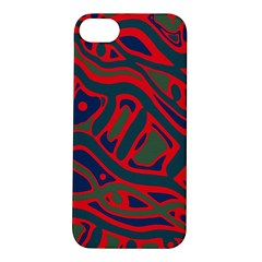 Red and green abstract art Apple iPhone 5S/ SE Hardshell Case