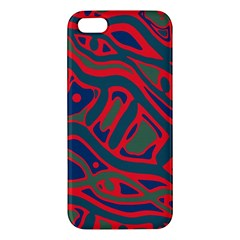 Red and green abstract art iPhone 5S/ SE Premium Hardshell Case