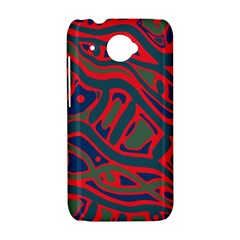 Red and green abstract art HTC Desire 601 Hardshell Case