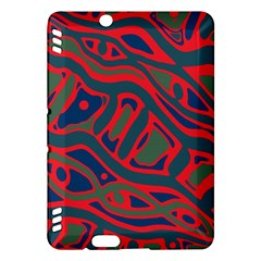 Red and green abstract art Kindle Fire HDX Hardshell Case