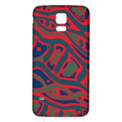 Red and green abstract art Samsung Galaxy S5 Back Case (White)