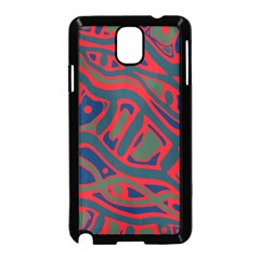 Red and green abstract art Samsung Galaxy Note 3 Neo Hardshell Case (Black)