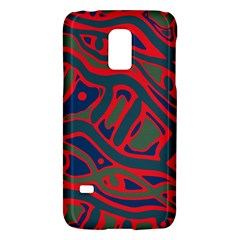 Red and green abstract art Galaxy S5 Mini