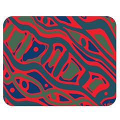 Red and green abstract art Double Sided Flano Blanket (Medium)