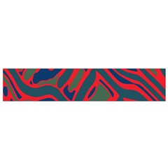 Red and green abstract art Flano Scarf (Small)