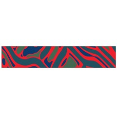 Red and green abstract art Flano Scarf (Large)