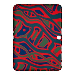 Red and green abstract art Samsung Galaxy Tab 4 (10.1 ) Hardshell Case