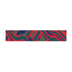 Red and green abstract art Flano Scarf (Mini)