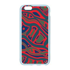 Red and green abstract art Apple Seamless iPhone 6/6S Case (Color)