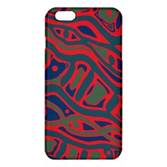 Red and green abstract art iPhone 6 Plus/6S Plus TPU Case