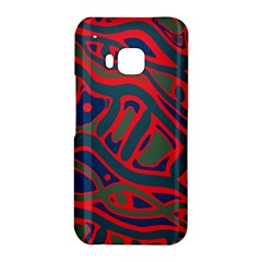 Red and green abstract art HTC One M9 Hardshell Case