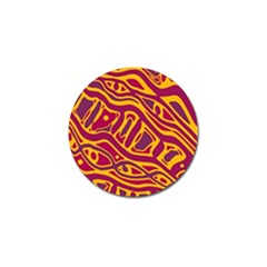 Orange abstract art Golf Ball Marker (4 pack)