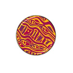 Orange abstract art Hat Clip Ball Marker (10 pack)