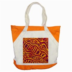 Orange abstract art Accent Tote Bag