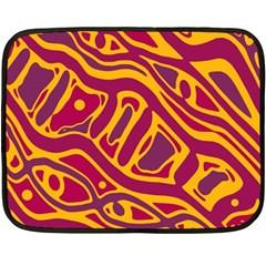 Orange abstract art Fleece Blanket (Mini)
