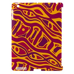 Orange abstract art Apple iPad 3/4 Hardshell Case (Compatible with Smart Cover)