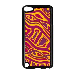 Orange abstract art Apple iPod Touch 5 Case (Black)