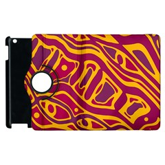 Orange abstract art Apple iPad 3/4 Flip 360 Case