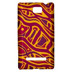 Orange abstract art HTC 8S Hardshell Case