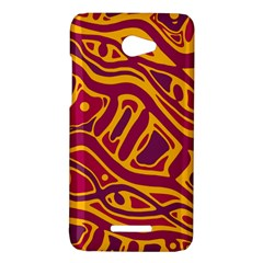 Orange abstract art HTC Butterfly X920E Hardshell Case