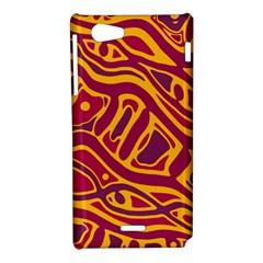 Orange abstract art Sony Xperia J