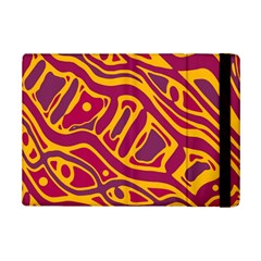 Orange abstract art iPad Mini 2 Flip Cases