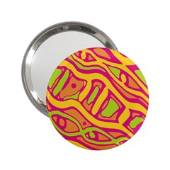 Orange Hot Abstract Art 2 25  Handbag Mirrors